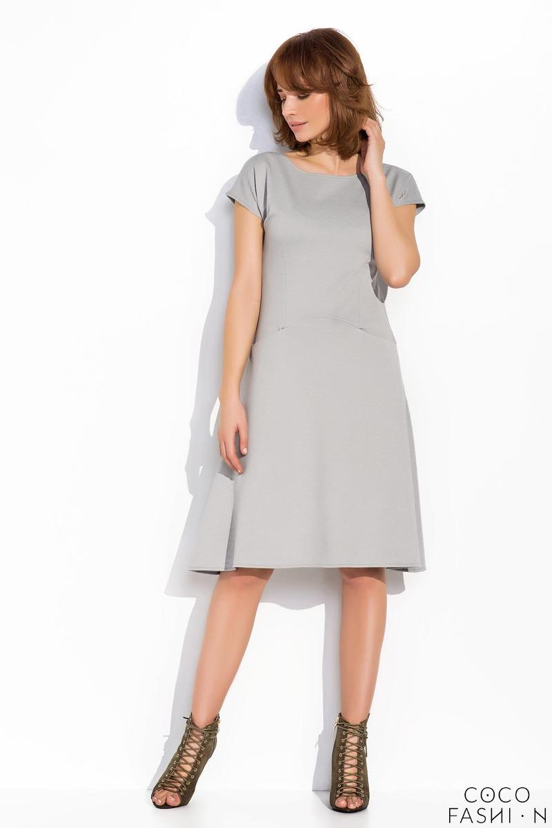 Light Grey Simple Casual Style Dress