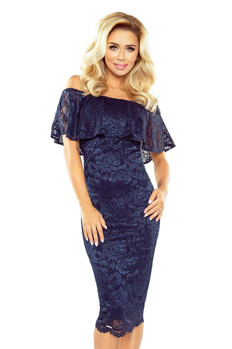 Navy Pencil Spanish Style Dress