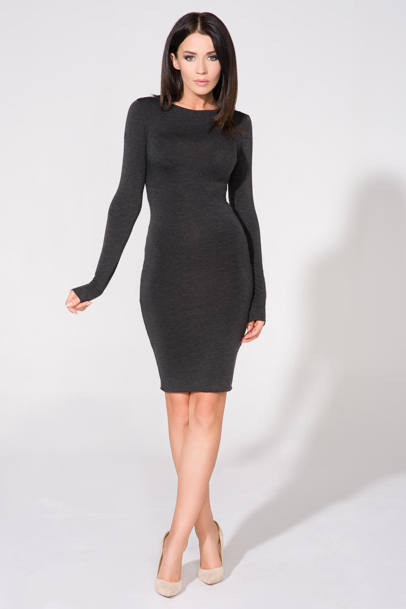 dark-grey-bodycon-open-back-dress