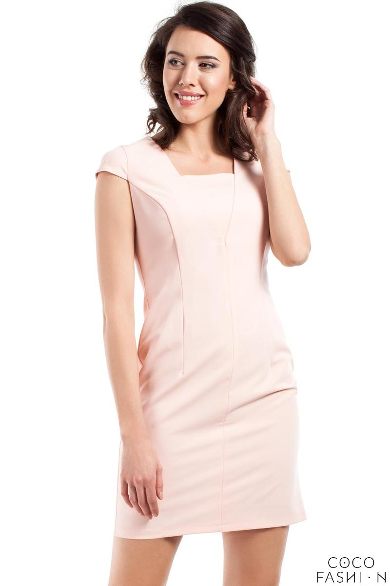 powder-pink-super-slim-fit-mini-dress