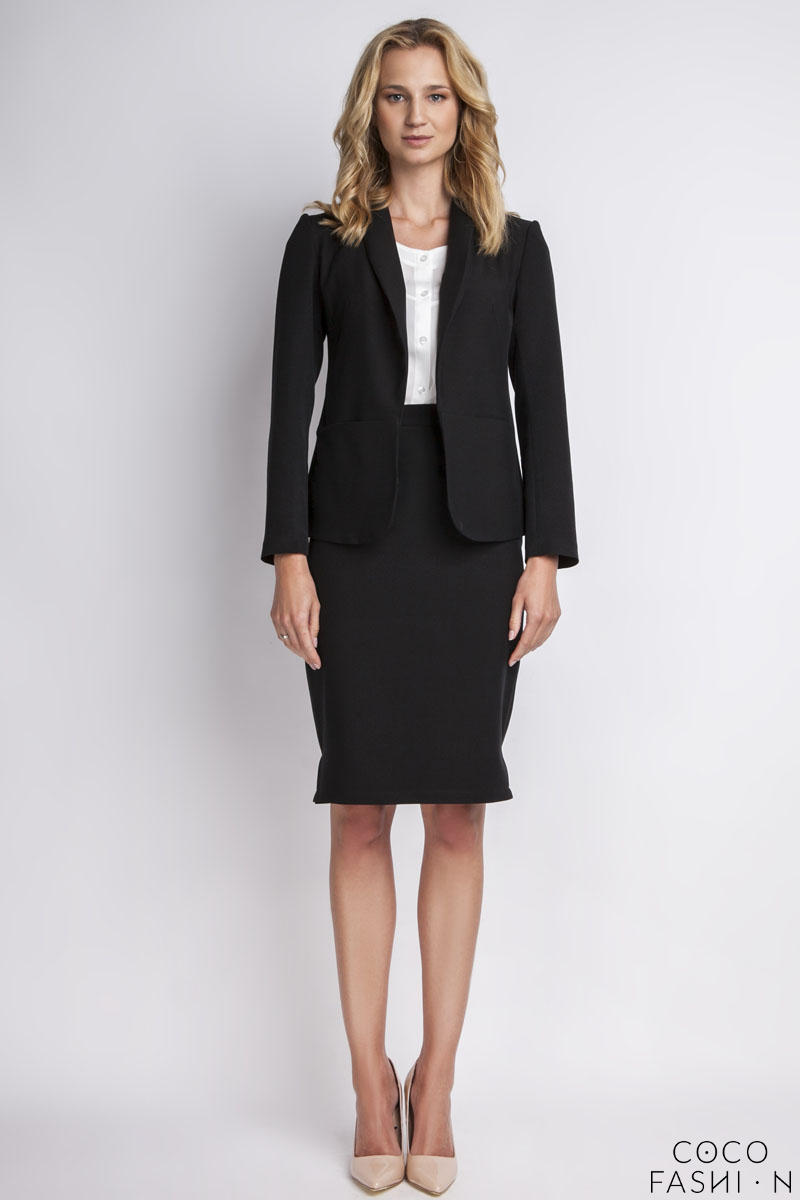 Black Elegant Ladies Blazer