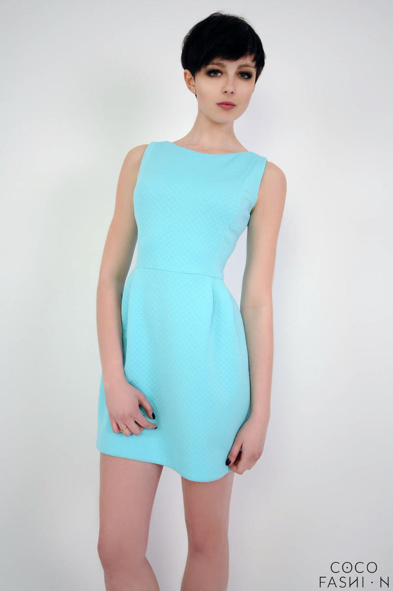 sky-blue-simple-mini-sleeveless-dress