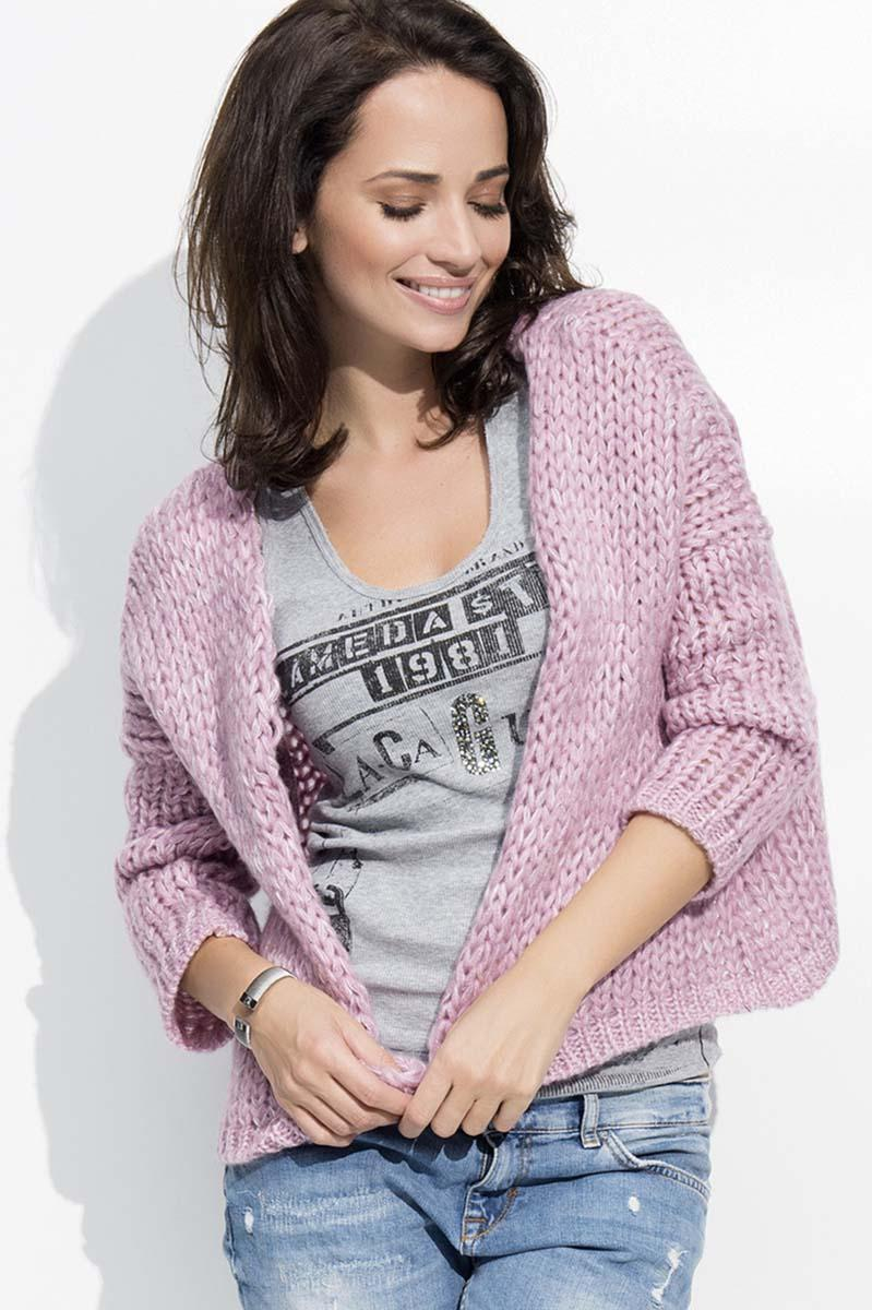 Pink Short Ladies Cardigan