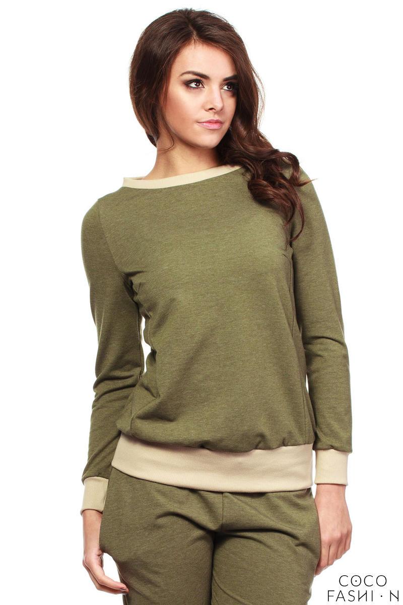 khaki-green-dynamic-sporty-sweatshirt-long-sleeve-blouse