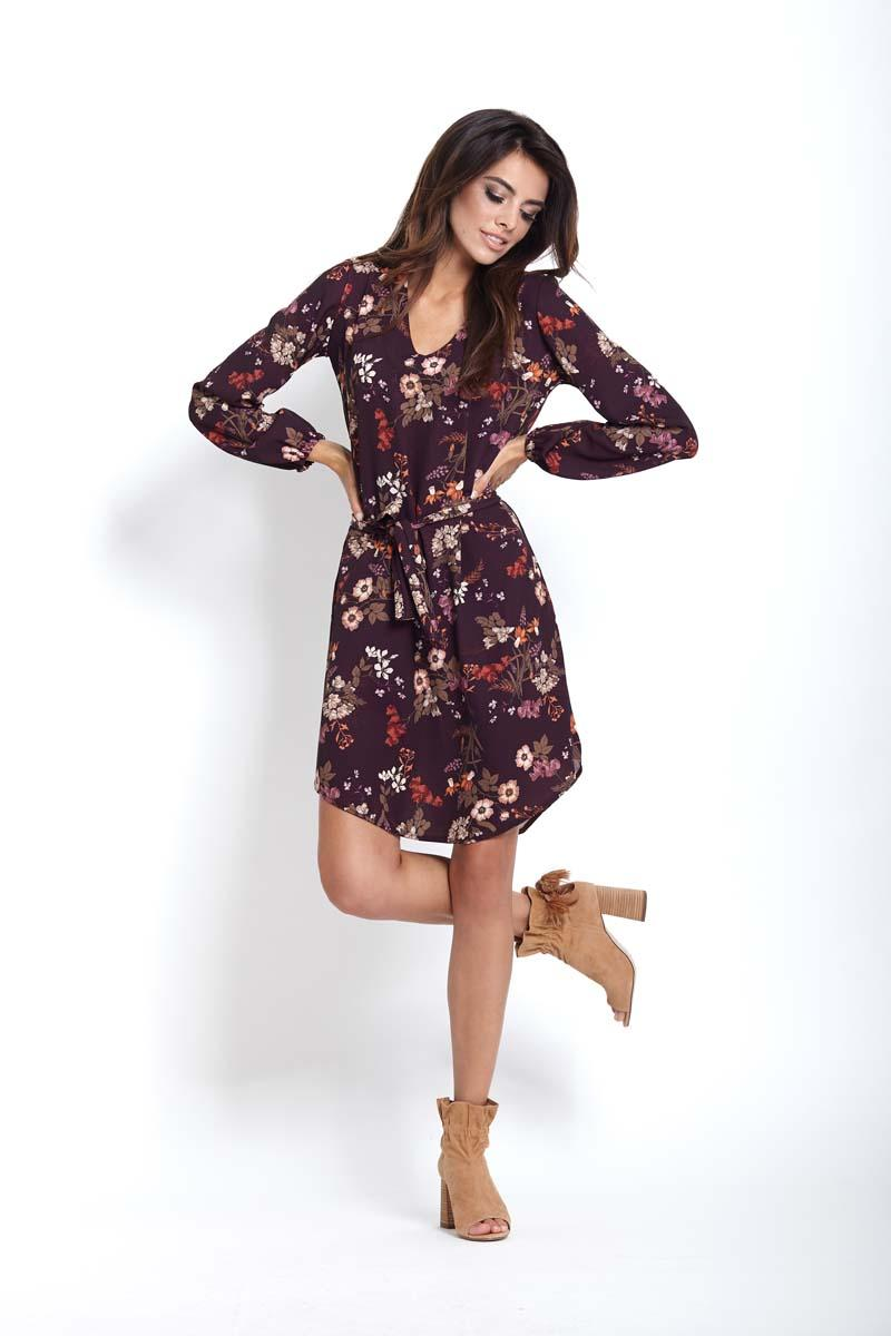 Flowered Boho Mini Dress