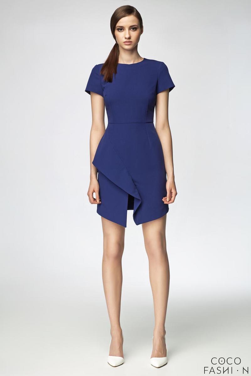 blue-asymetrical-frill-mini-dress