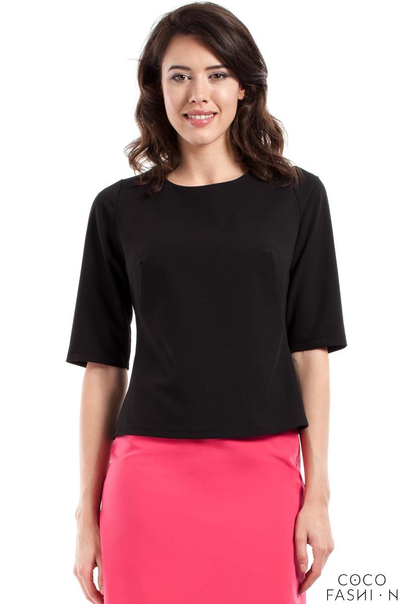 black-classic-12-sleeves-blouse