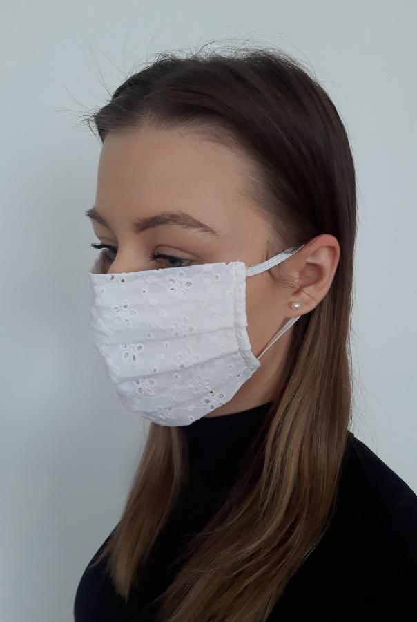 Cotton Face Mask - White