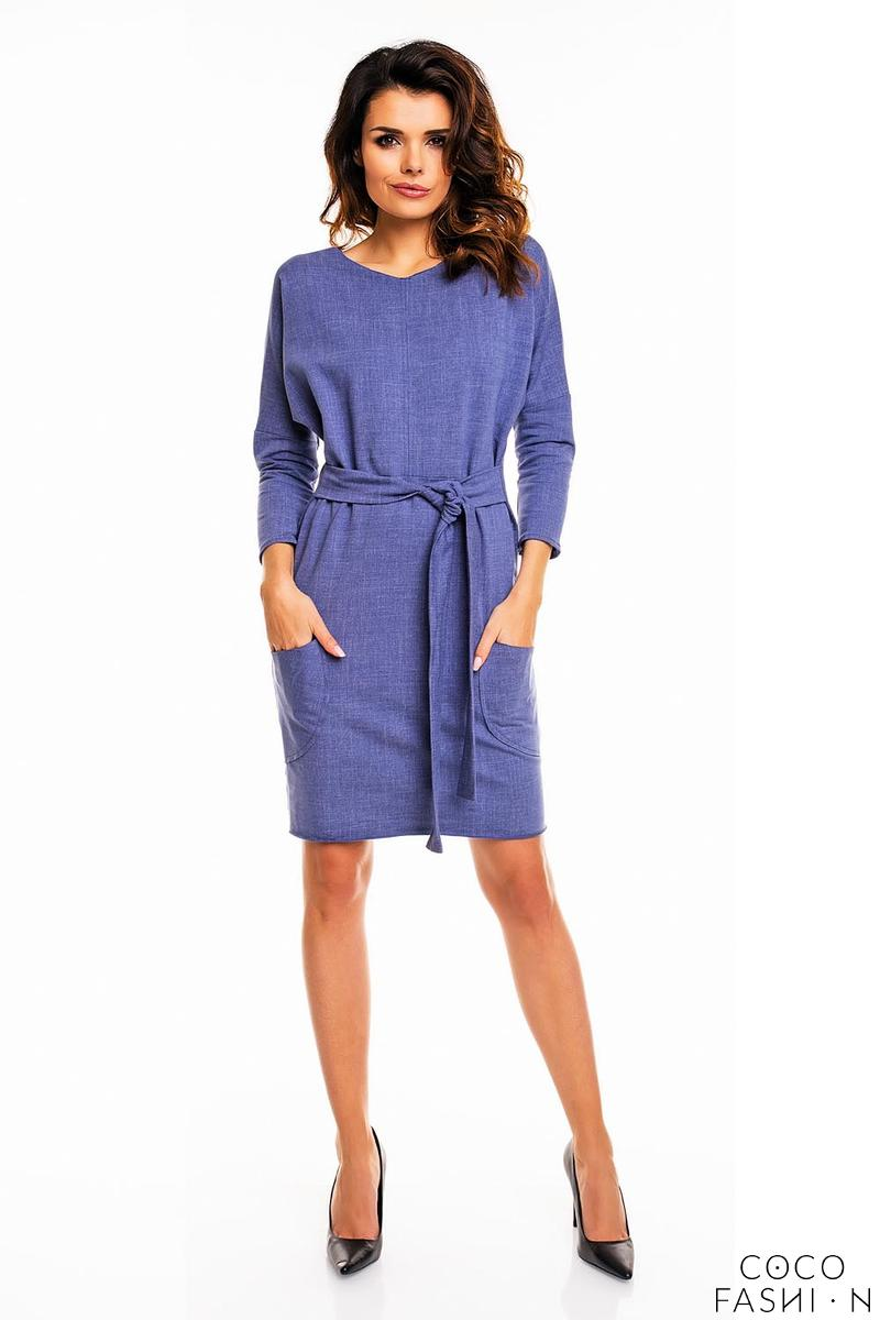 blue-office-style-belted-dress
