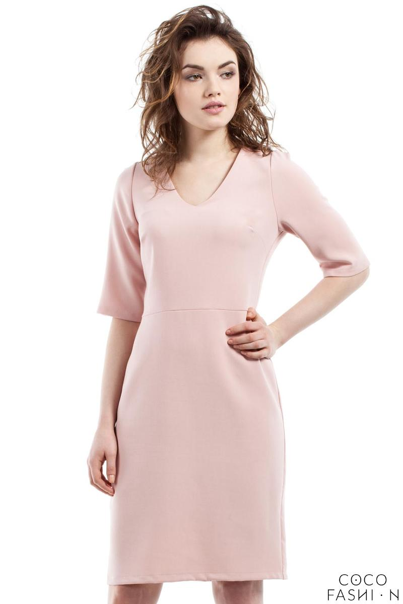pink-soft-office-style-knee-length-dress