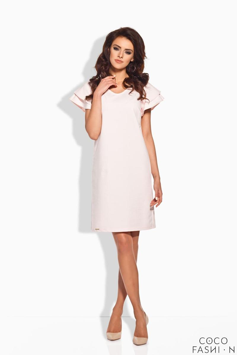 Pink Coctail Butterfly Sleeves Dress