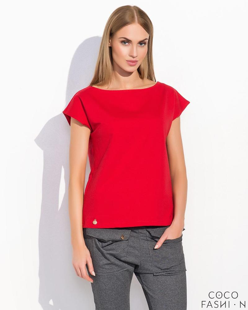 Red Classic Plain Ladies T-shirt
