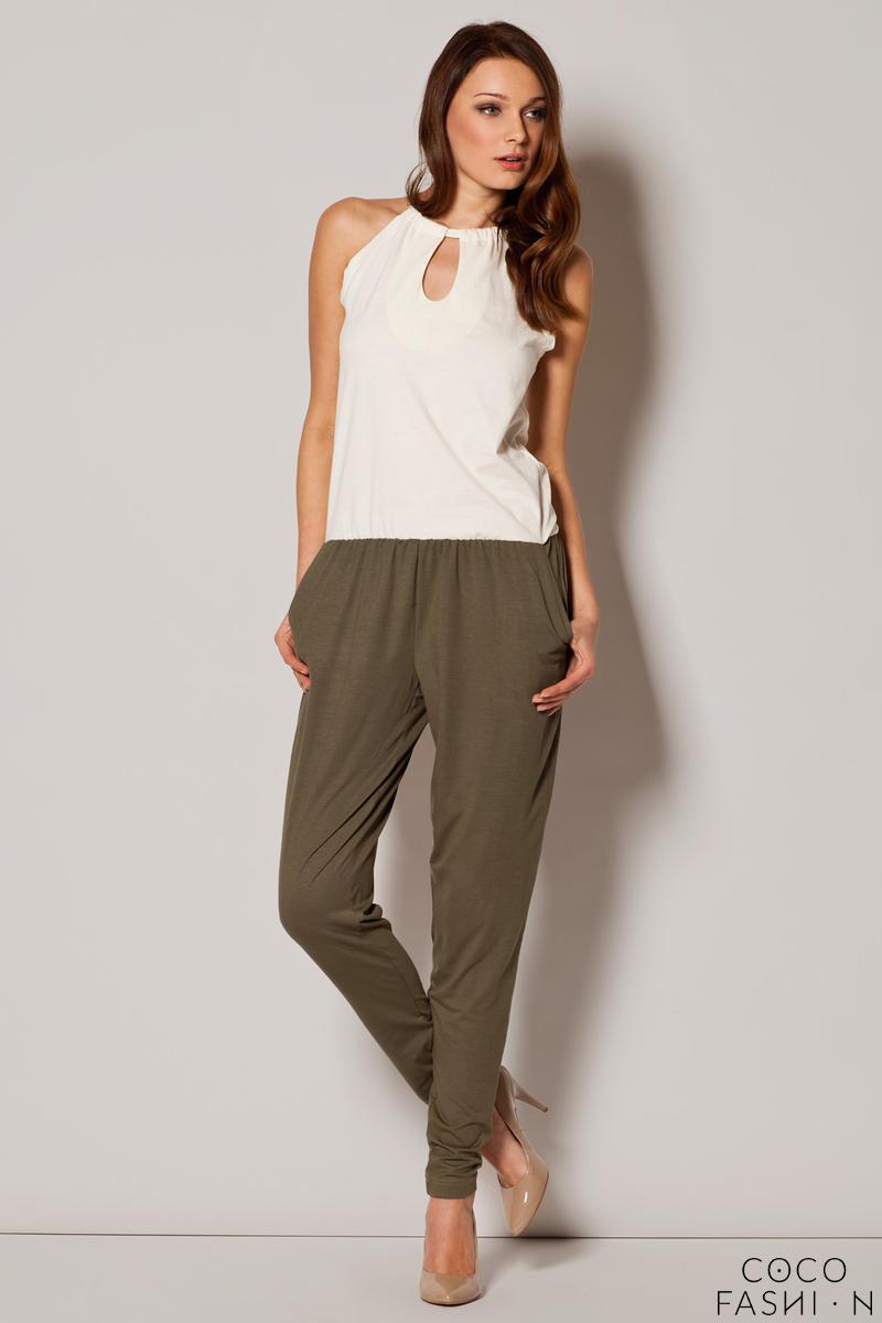 olive-keyhole-halter-neckline-contrast-jumpsuit