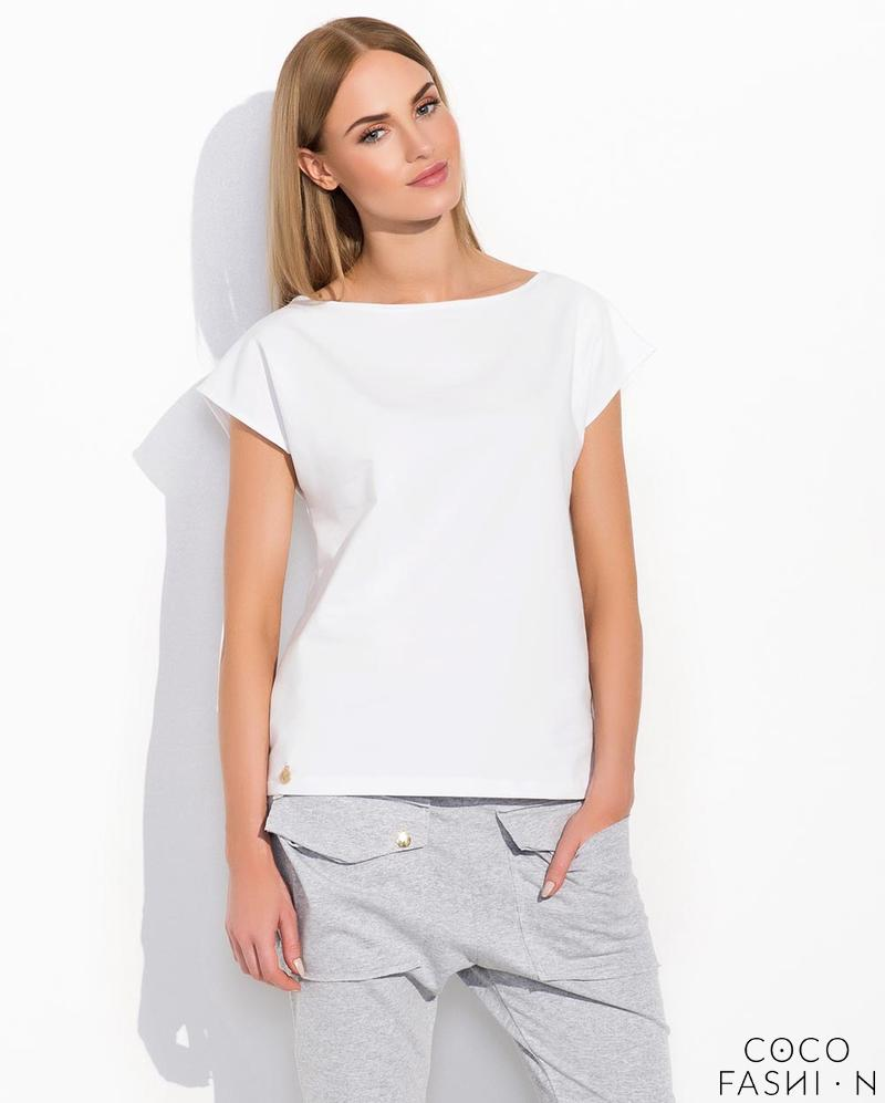 White Classic Plain Ladies T-shirt