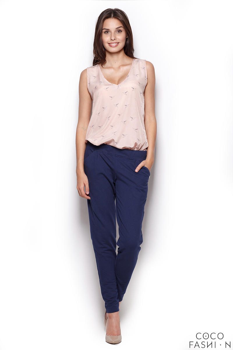 Dark Blue Comfy Hipster Long Pants