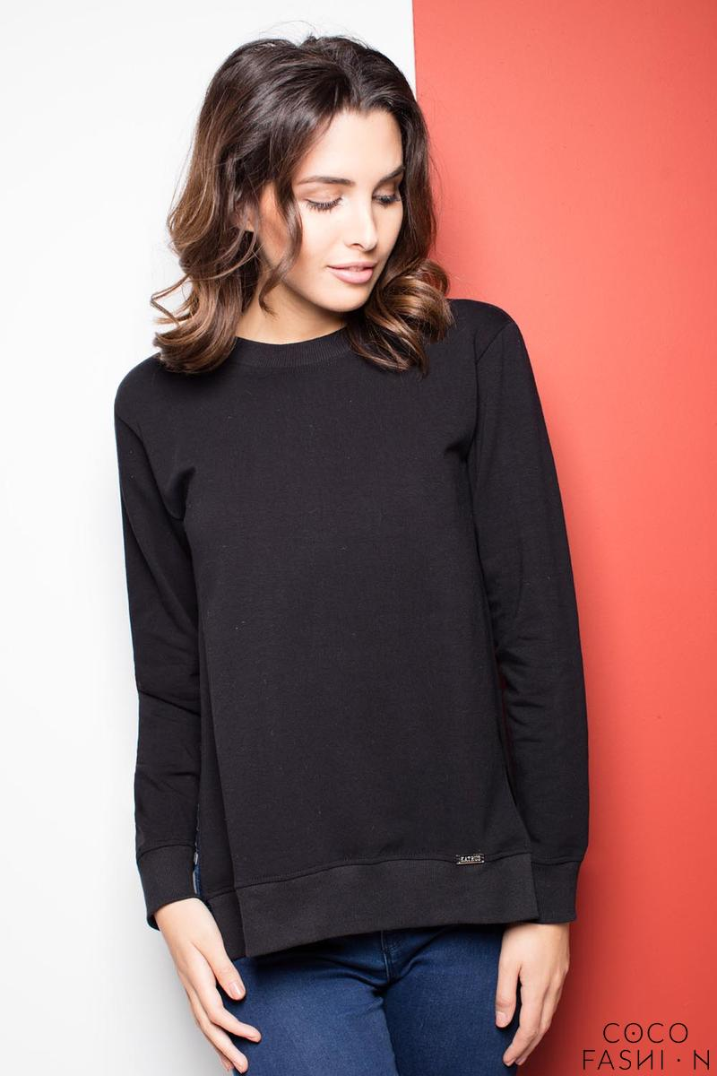 Black Long Sleeves Cut Sides Jumper