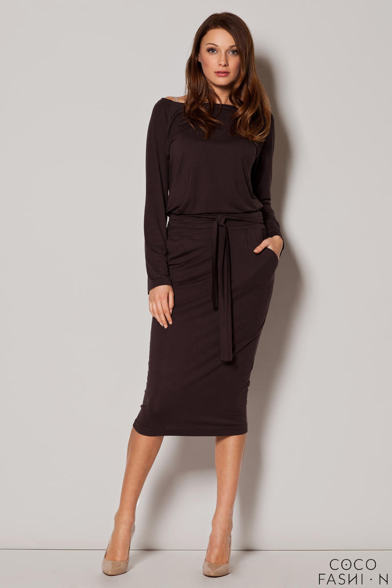 brown-urban-style-monk-hip-dress