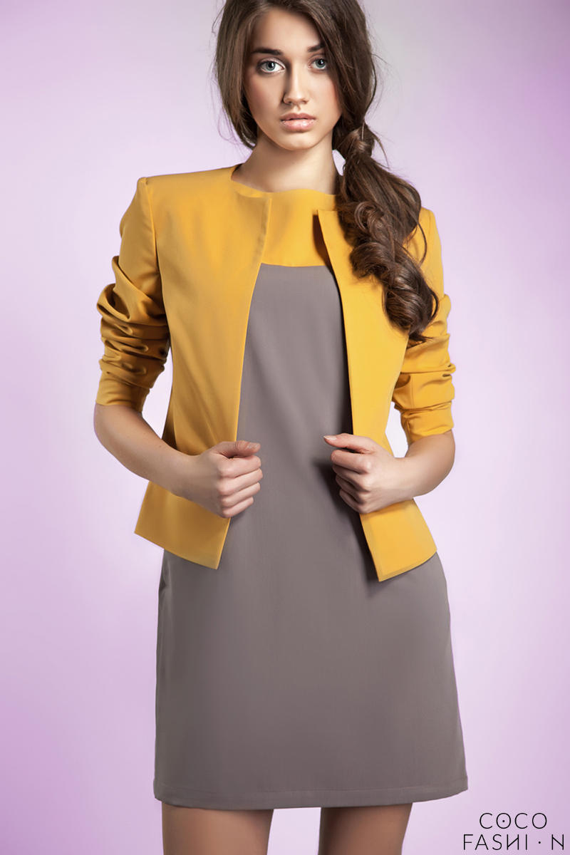 yellow-front-open-jacket-with-34-sleeves