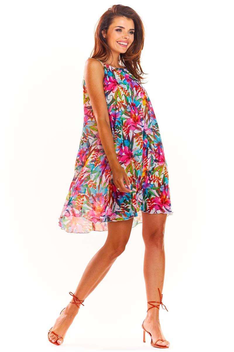 Colourful Flowered Dress Summer Style