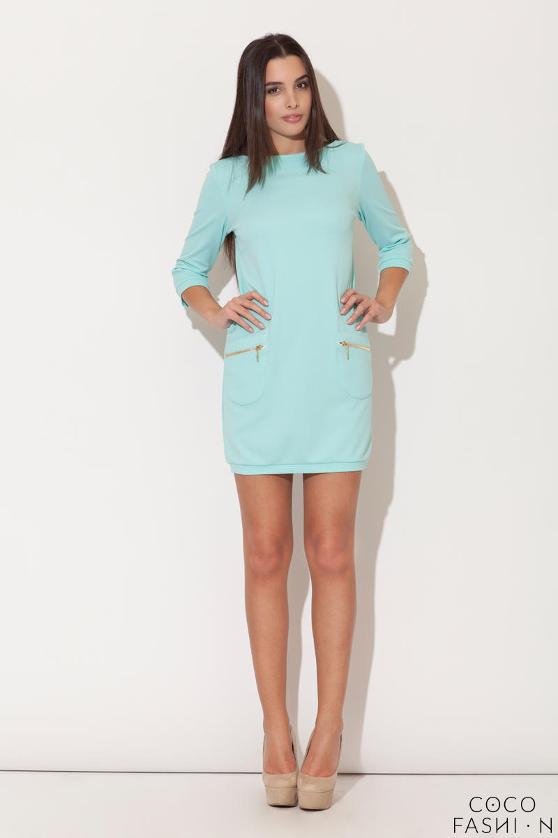 Green Modernize Kelly Inspired Mini Dress