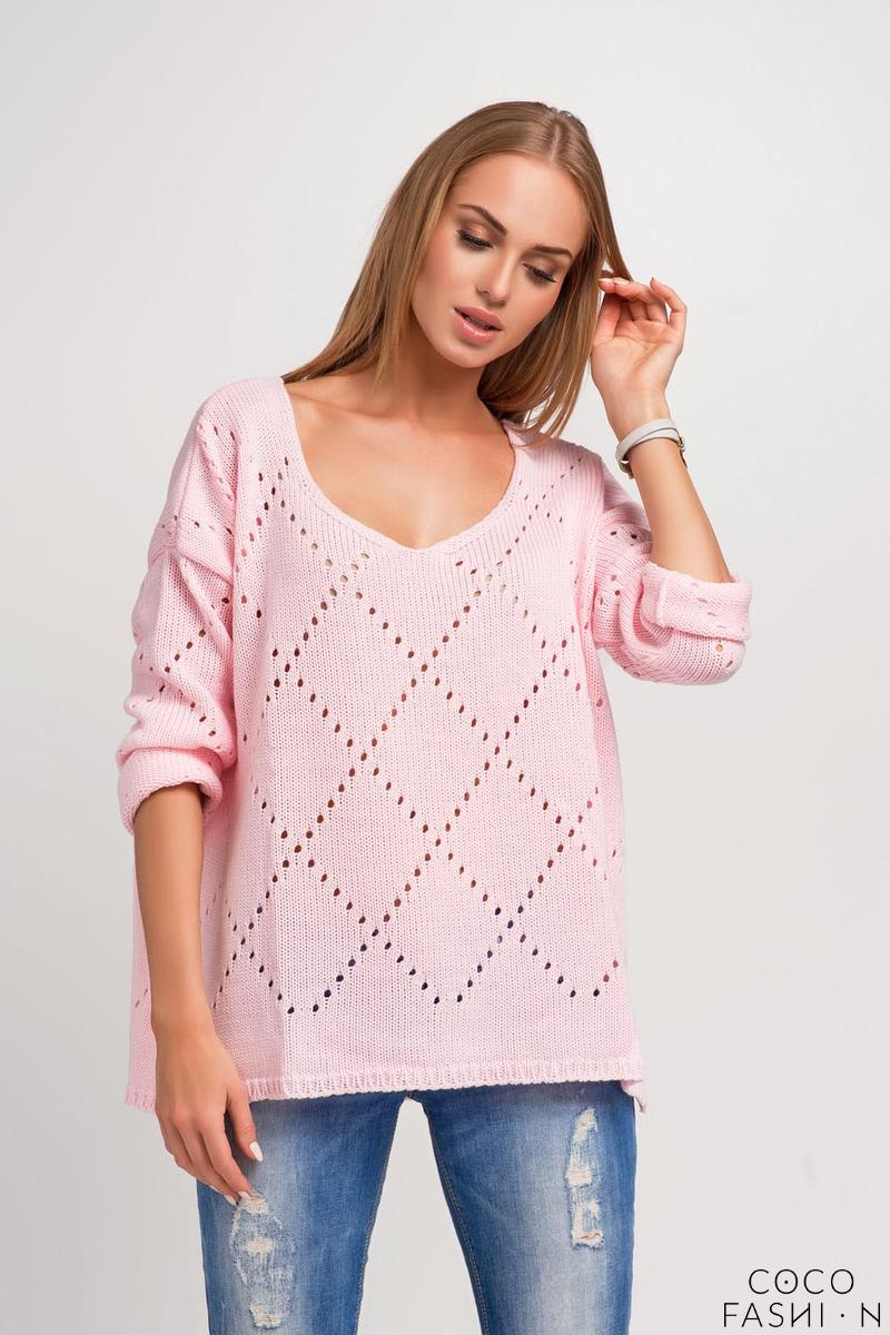 pink-ajure-pattern-oversize-sweater