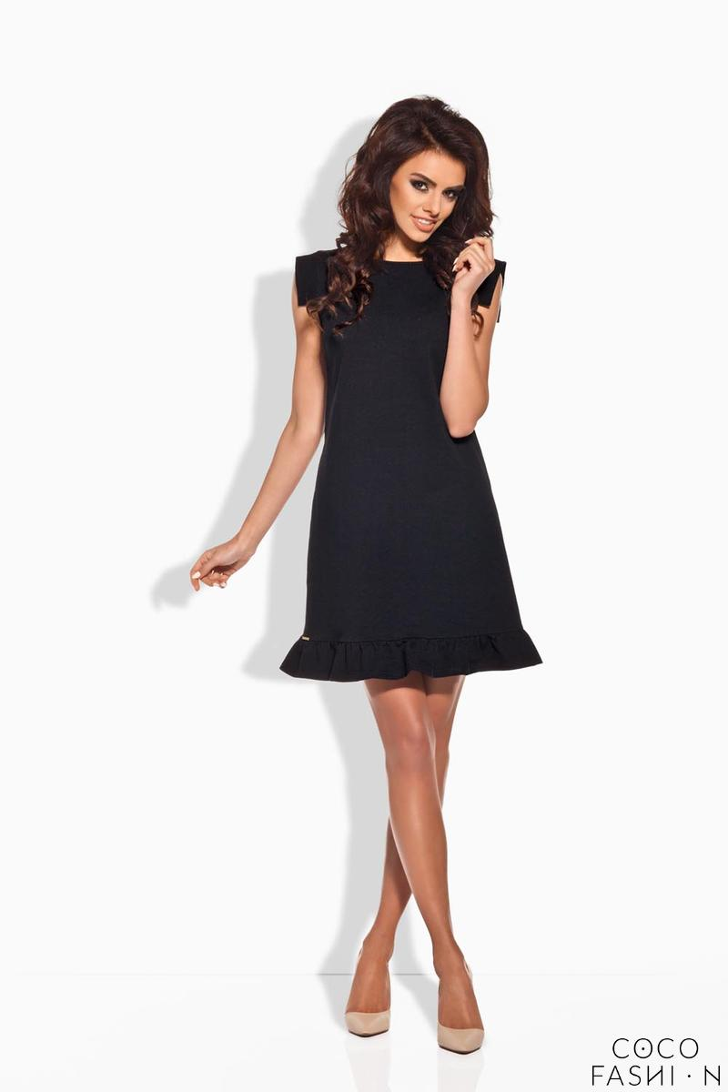Black Romantic Frill Mini Coctail Dress