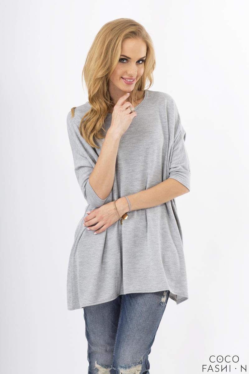 grey-oversized-bat-sleeves-blouse
