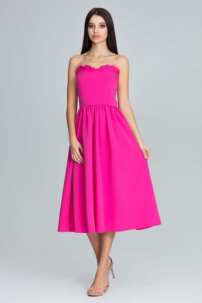 Midi Fuchsia Corset Dress