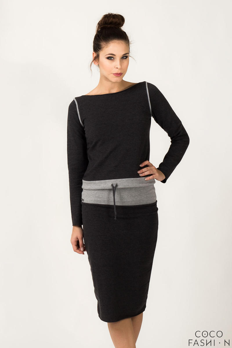 dark-grey-fitted-sport-style-skirt