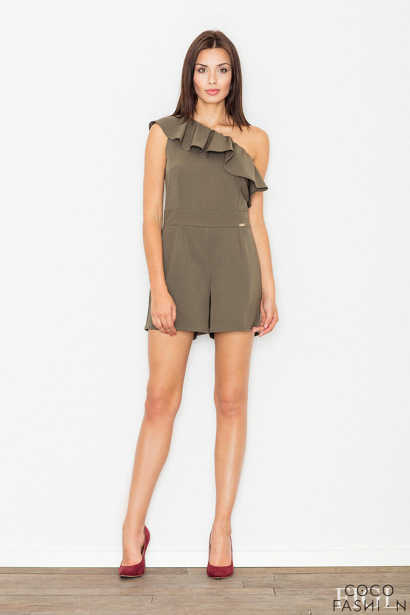 olive-green-asymetrical-frilled-summer-jumpsuit