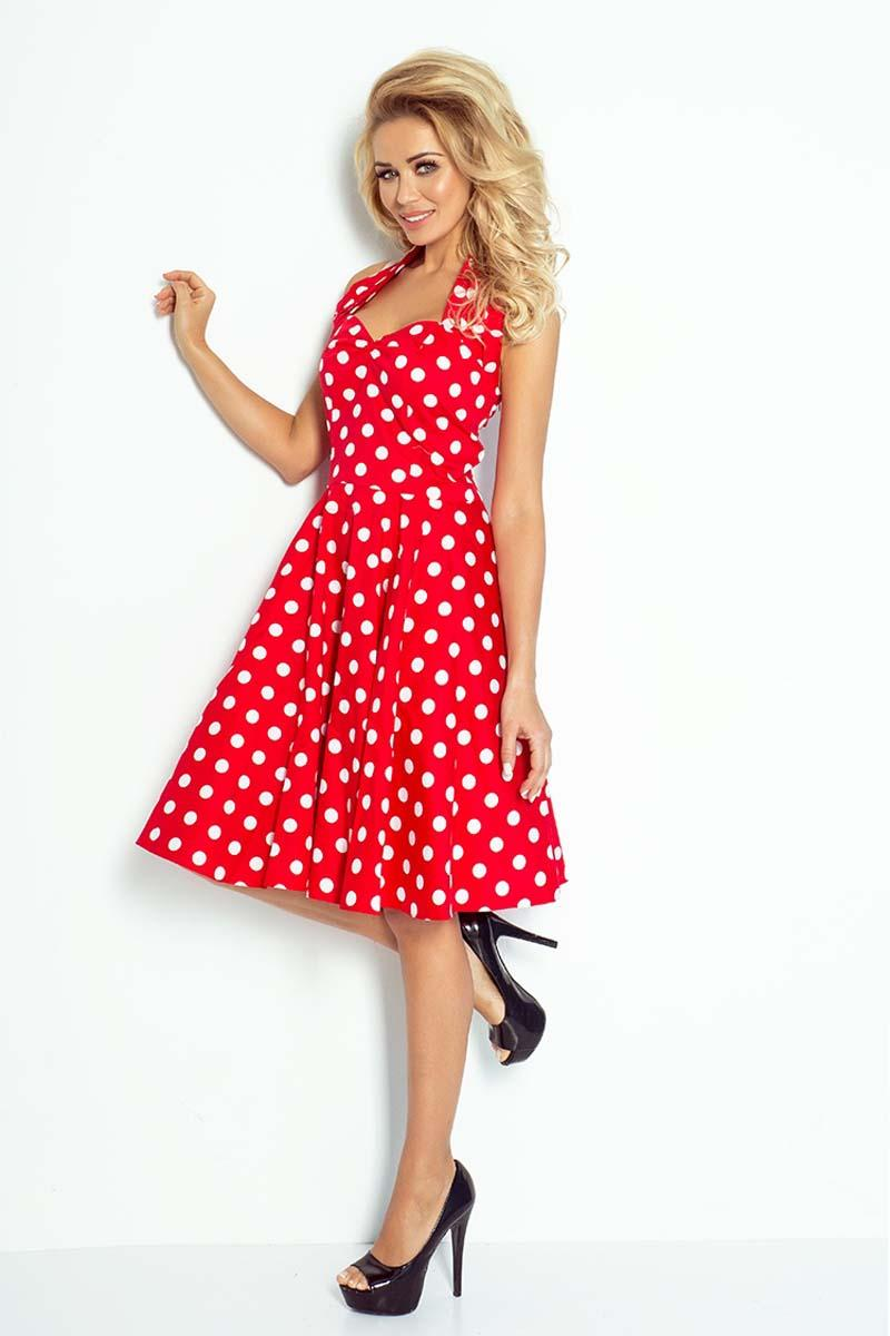 red-white-large-polka-dot-pattern-pin-up-girl-style-dress