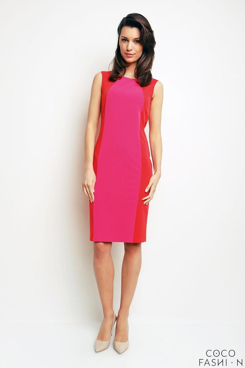 Pink&Red Simple Sleeveless Dress