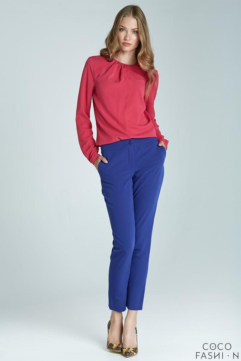 blue-elegant-classic-business-style-slim-pants