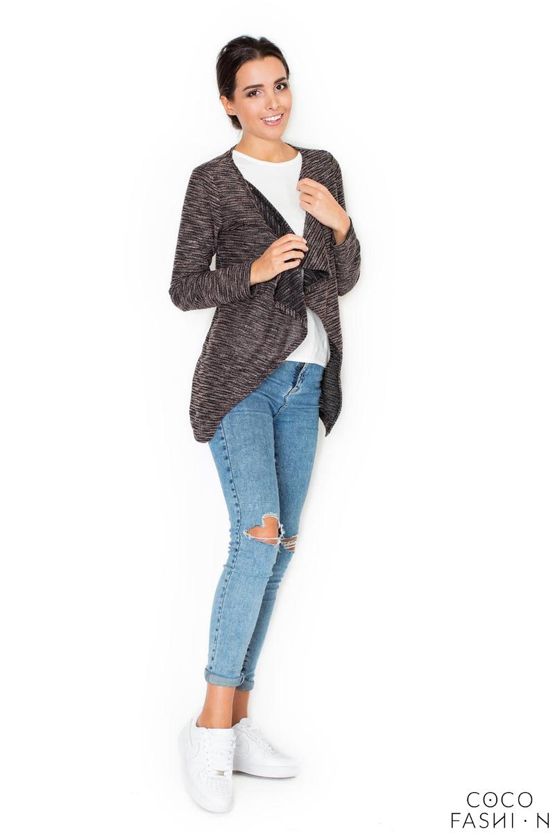 Beige Stylish Cardigan with Loose Lapels