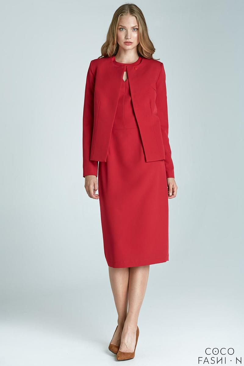 red-boxy-style-elegant-one-button-blazer