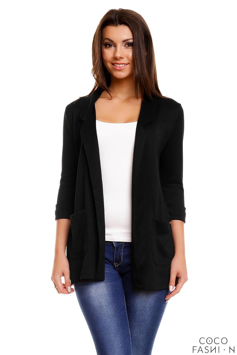 Black Casual Oversized Ladies Blazer
