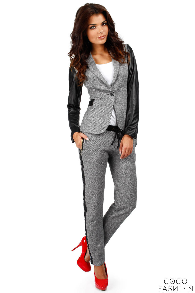 flecked-dark-grey-pants-with-contrast-side-panels