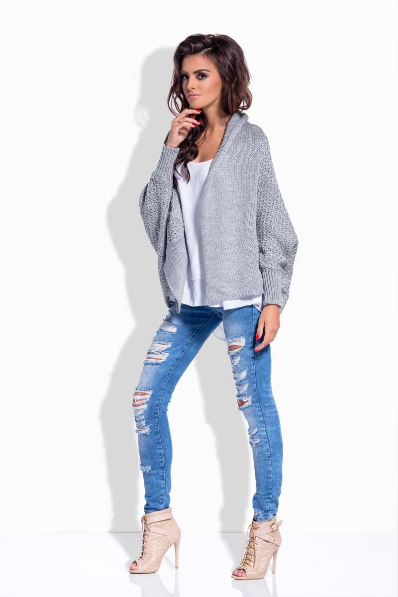 Light Grey Loose Fall Style Cardigan