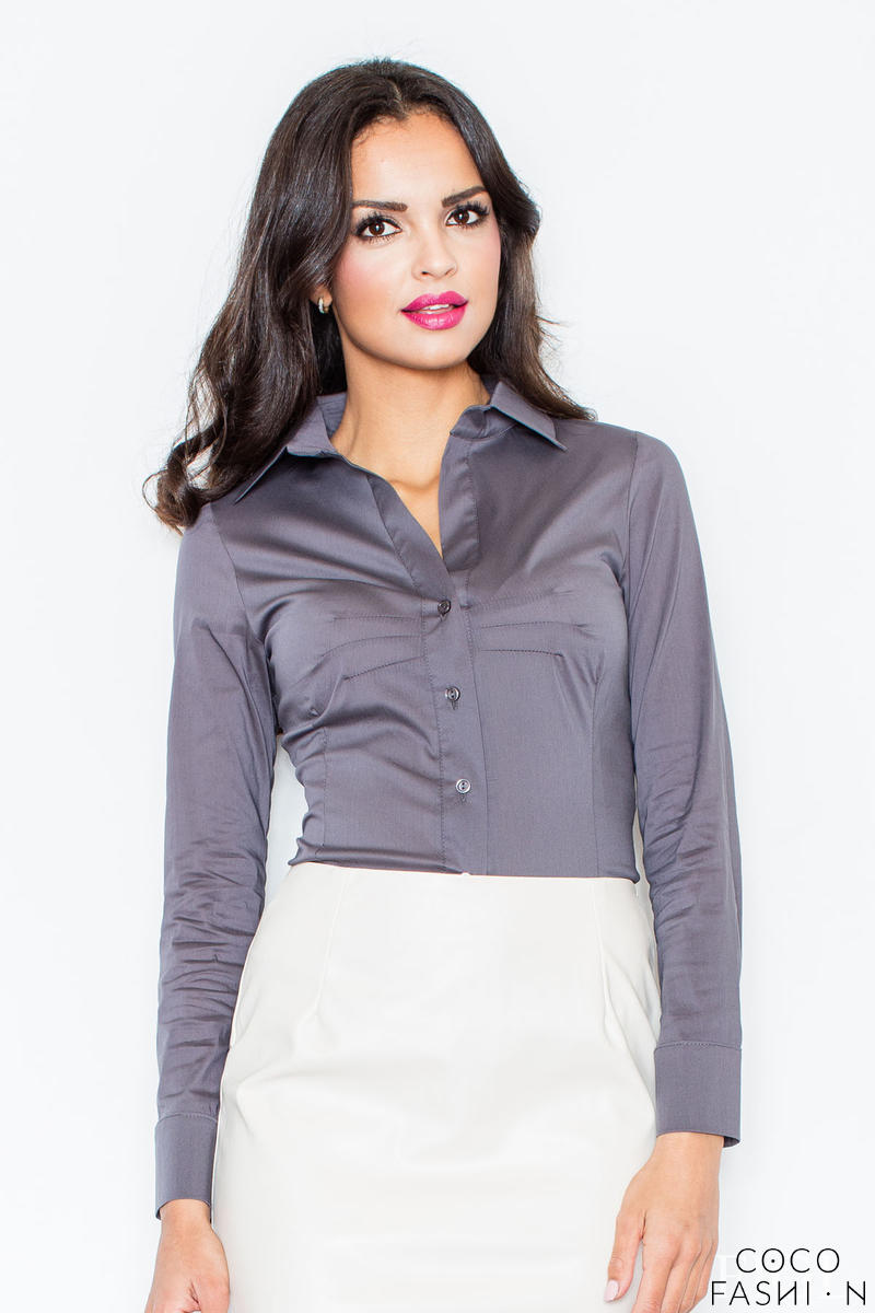 collared-grey-shirt-with-top-stitch-bust-seams