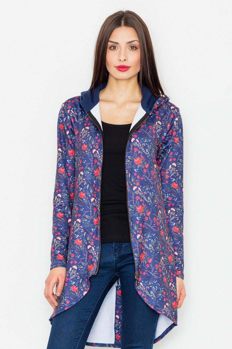 navy-zipper-floral-pattern-hoodie