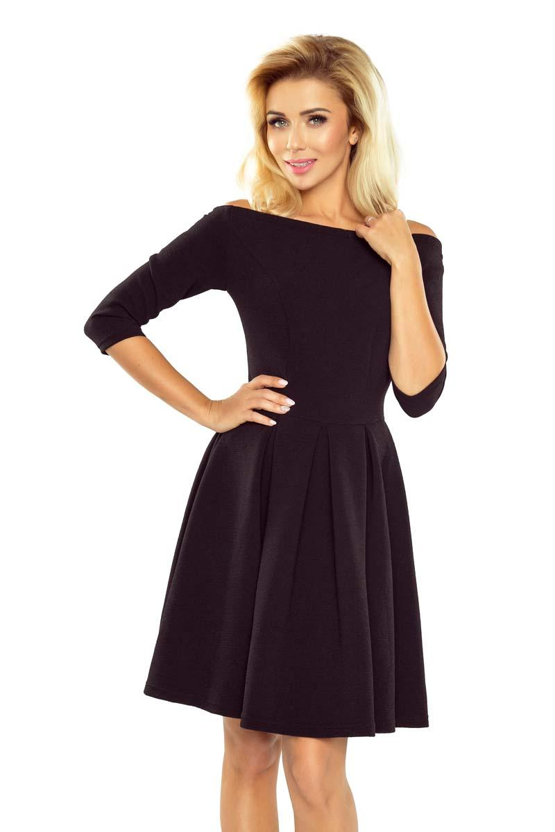 Little Black Dress with Flared Skirt