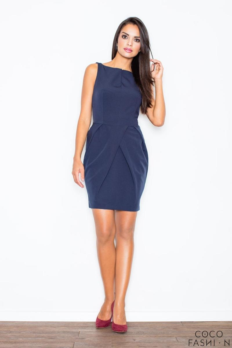 Dark Blue Sleeveless Coctail Chic Dress от cocofashion