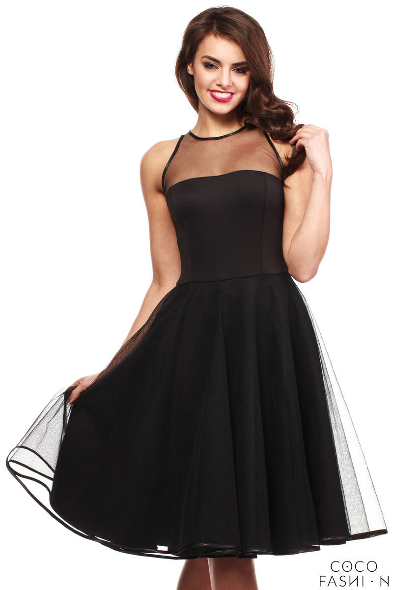 black-cheeky-mesh-skater-party-dress