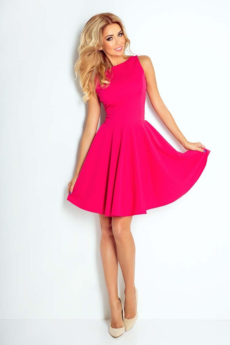 raspberry-pink-sleeveless-coctail-dress-with-light-pleats