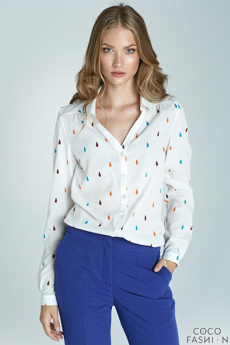 Patterned  Long Sleeves Classic Office Shirt