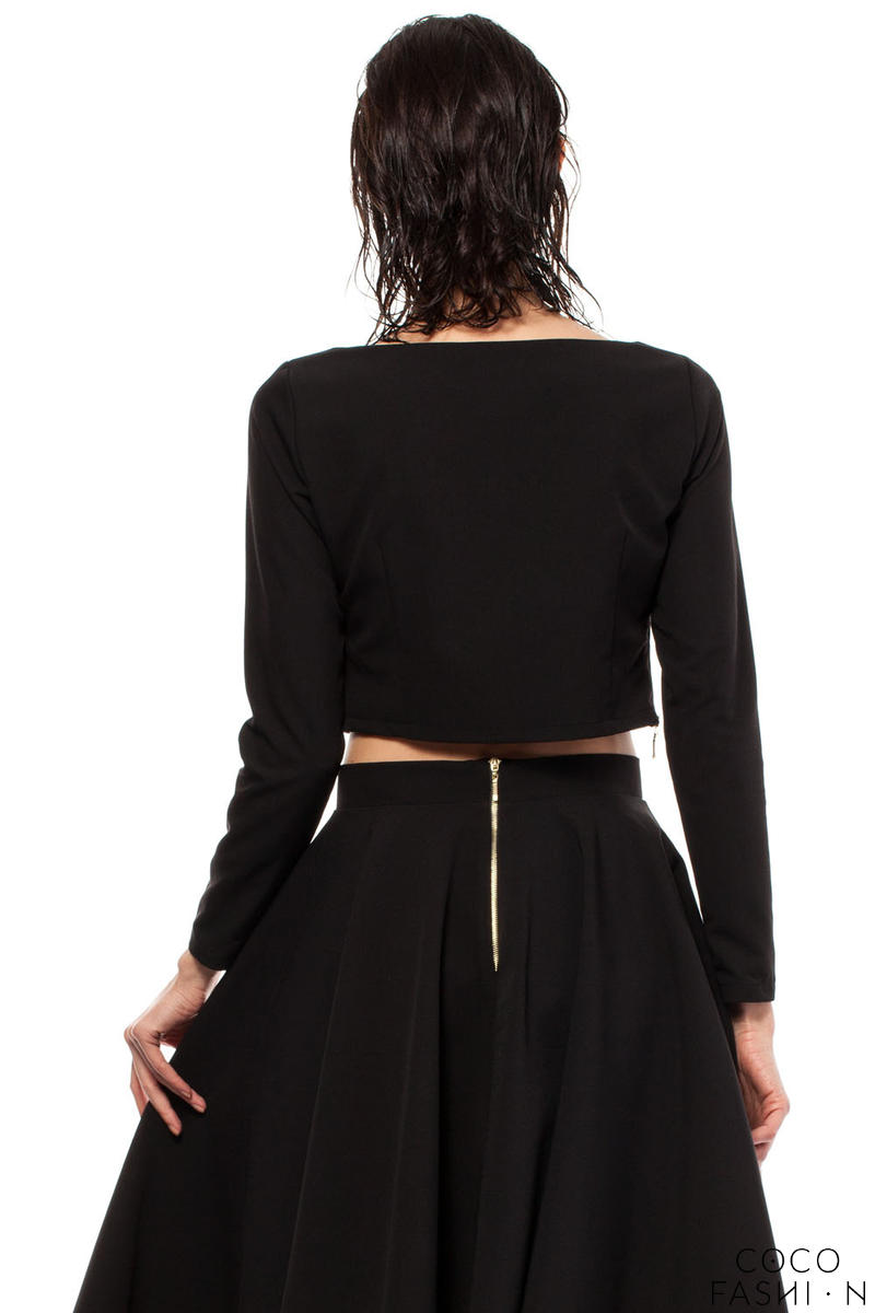 Black Blouse With Holes On Side 64