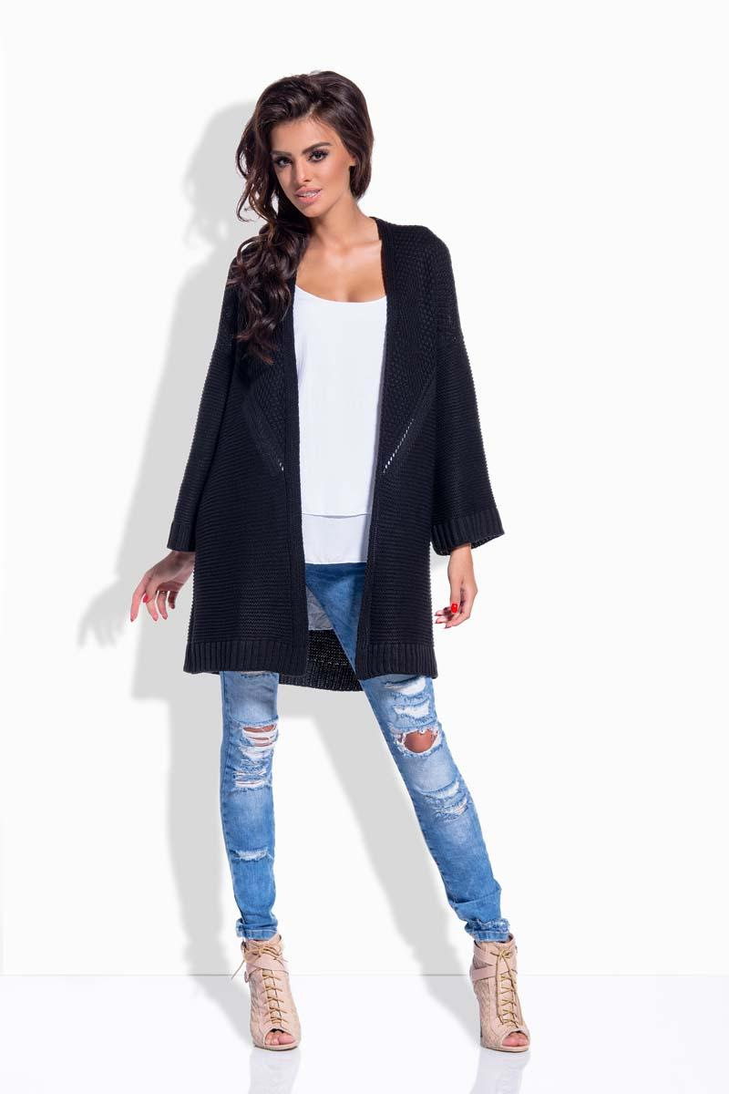 Black Loose&Long Cardigan