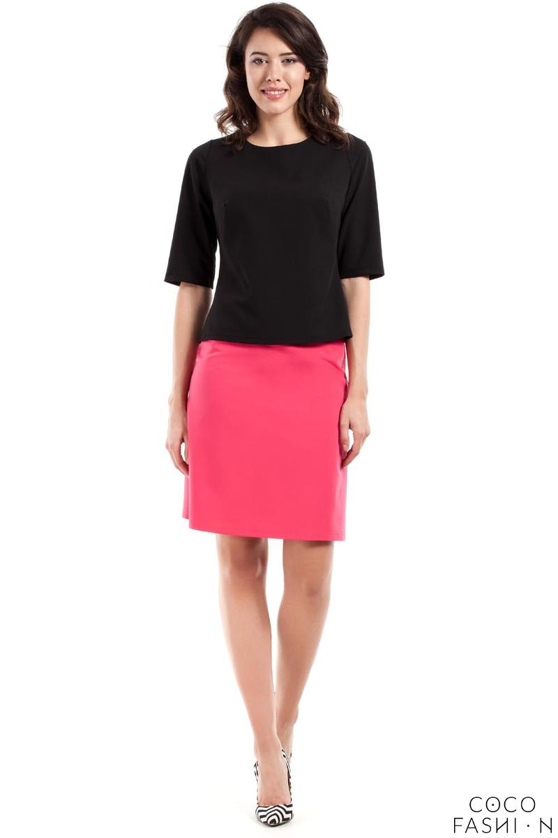 Pink Flared Classic Mini Skirt