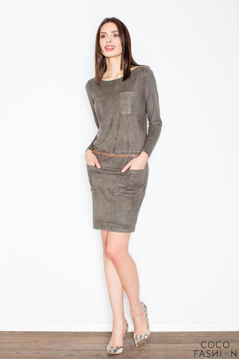 olive-green-office-style-dress-with-pockets