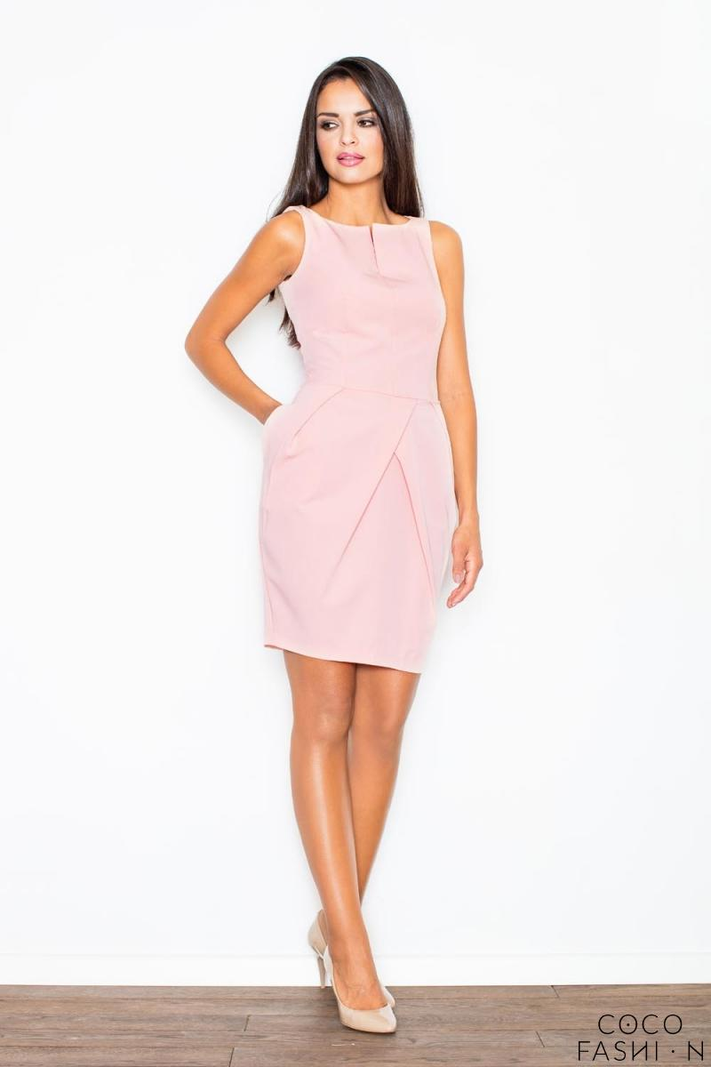 Pink Sleeveless Coctail Chic Dress от cocofashion